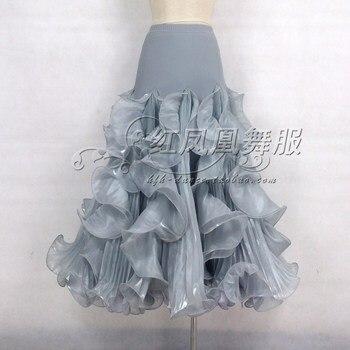 New style Ballroom dance costumes sexy spandex waves  ballroom dance skirt for women ballroom dance skirts S-4XL LBR129