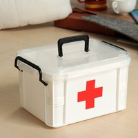 NEW Safurance Plastic 2 Layers Health Pill Medicine Drug Bottle First Aid Kit Case Storage Box