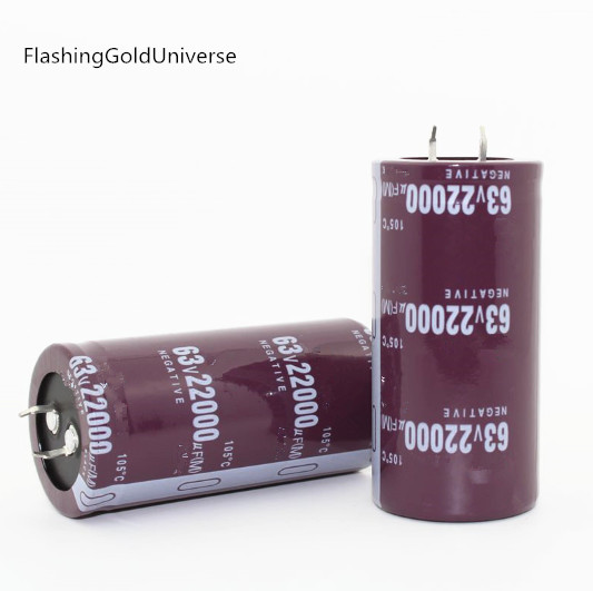 12PCS-2PCS 63V 22000UF 22000UF 63V  63V22000UF High Frequency Long Life  Electrolytic Capacitors Volume:  35*70MM Best Quality
