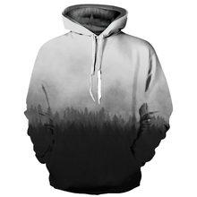 Headbook nueva moda 3d sudaderas con capucha de las mujeres hombres 3d  sudaderas imprimir niebla bosque delgado con capucha suda. 2845046798e