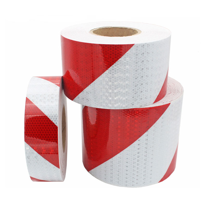 5CM 10CMX50M Red White Motorcycle Sticker Car Stickers Reflective Vinyl For Motorcycles Reflectors Warning Tape Sticker