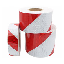 5CM/10CMX50M Red White Motorcycle Sticker Car Stickers Reflective Vinyl For Motorcycles Reflectors Warning Tape Sticker Moto цена и фото