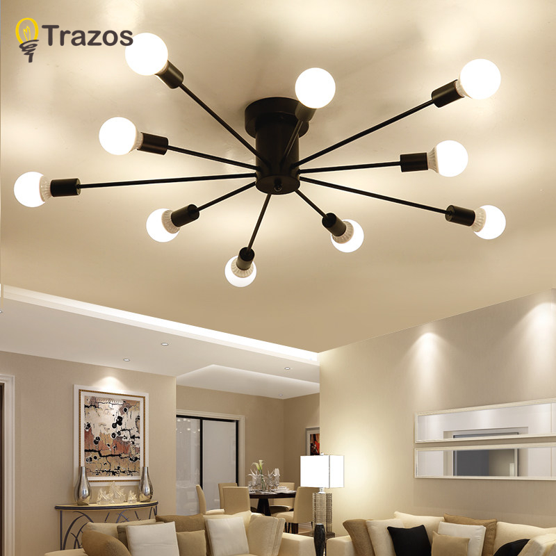 Modern art ceiling chandeliers Lamparas De Techo lustre Luminaria Abajur Ceiling Lamp Home Lighting Luminaire Living Room Lights new vintage ceiling lights lamparas de techo lustre luminaria abajur ceiling lamp home lighting avize luminaire living room