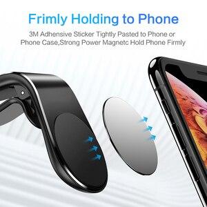 Image 4 - Suntaiho support de téléphone de voiture magnétique L forme évent support de montage pour iPhone X 7 8 Samsung S9 voiture aimant GPS support de téléphone portable
