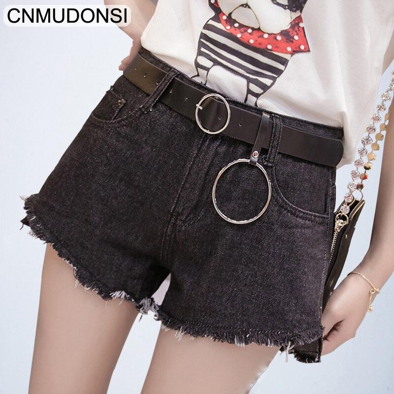 56b7b27dd6 Novio Bolsillo Mujer Cortos Lateral Harajuku Coreano 1001blackash Nuevo  Denim Pantalones La Cintura Jeans Vaqueros Verano ...