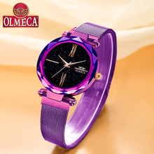 купить Top Brand Luxury Watches OLMECA Waterproof Wrist Watch Reloj Mujer Water Resistant Quartz Analog Women Watch Casual Purple Color дешево