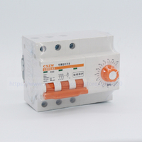 3 phase circuit breaker with timer 0 10 hours 63A 3 phase 3 wire water pump timer