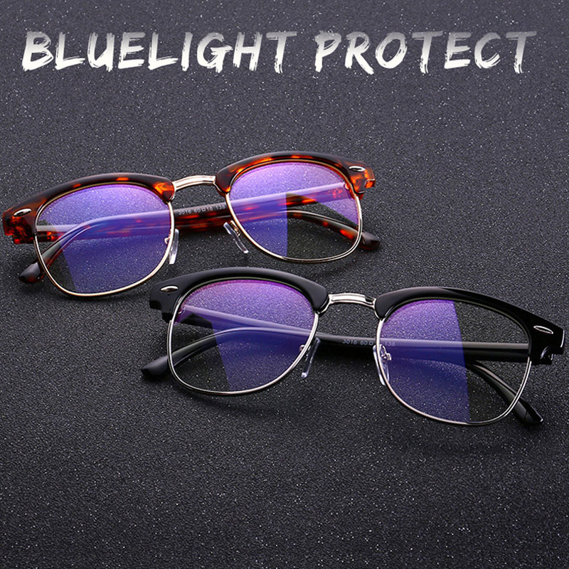 Computer Glasses Frame Anti Blue Ray Glasses Men Women Anti Blue Light Eyeglasses PC Game Unisex Optical Prescription Eyewear