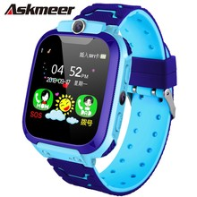 ASKMEER S9 Children Baby Smart Watch LBS Positioning Phone Call SOS Safe Camera band For Kid Clock IOS Android
