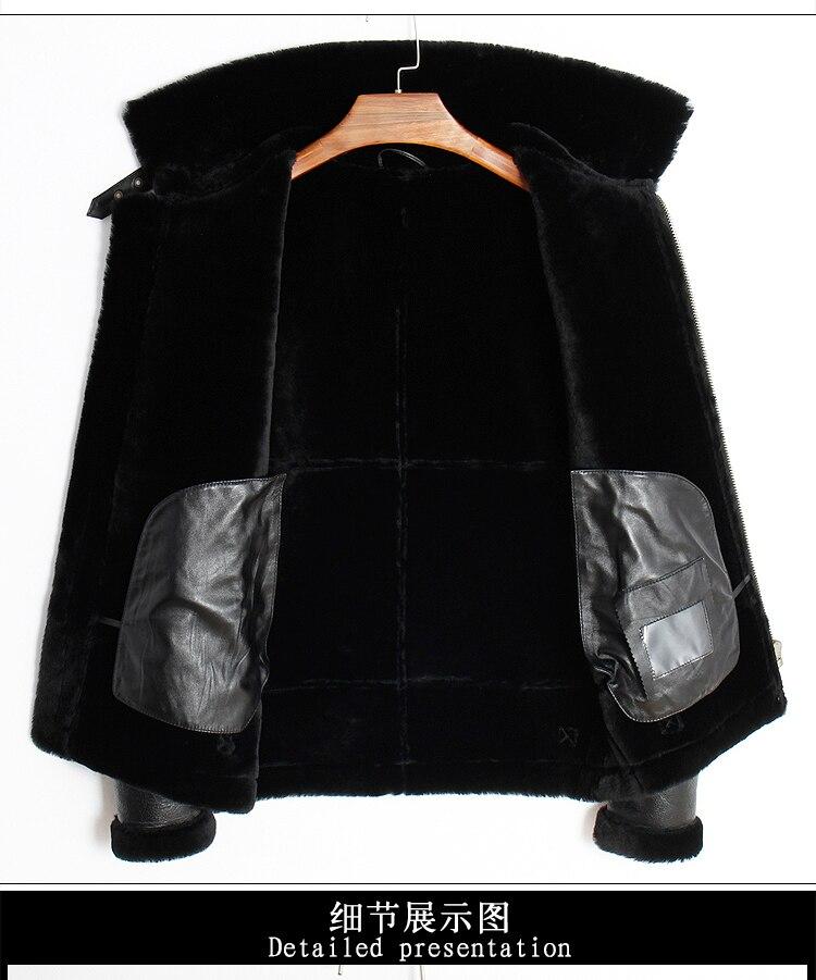 HTB1LlO KkKWBuNjy1zjq6AOypXaB Free shipping,Winter Genuine Sheep fur coat,Wool Shearling,warm leather jacket,mens sheepskin coat.plus size black jackets.