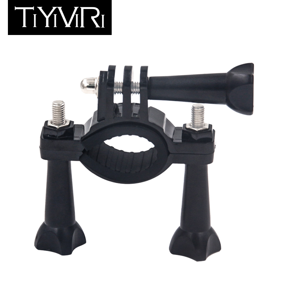 Bike Motorcycle Mount Handlebar Seatpost Pole Mount Adapter For Gopro Hero 5 3 4 SJCAM Xiaomi Yi 4K Sports Action Camera Mount цены