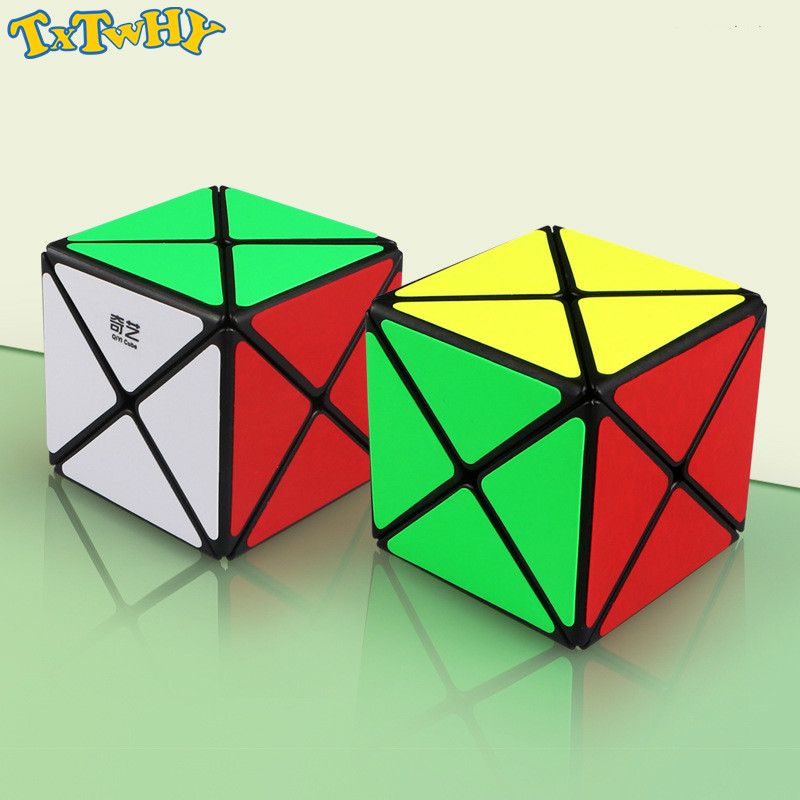 X Shape Magic Cube Black/Stickerless 3x3x3 The First Twist Cube Puzzle Sticker Learning Education Cubo Magico Toys For Children