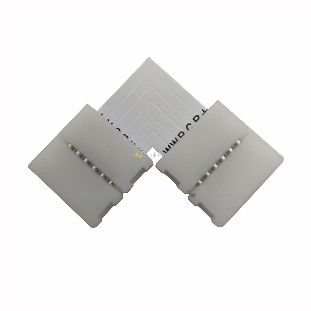 5pcs 12mm 6 PIN RGB+CCT Connector L Shape / X Shape / T Shape No Soldering Connector For 6pin 5050 RGB CCT LED Strip