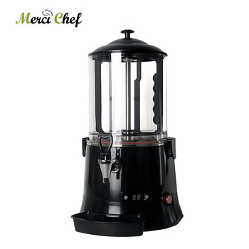 10L Hot Chocolate Dispenser Machine Black Or Red Commercial  Coffee Coco MilkTea Chocolate Dispenser Electric Heating System hot sale commercial mini kitchen appliance table counter top 5 liter chocolate melting machine for drink dispenser