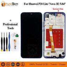 2280*1080 Pink, Blue, Black LCD With Frame For HUAWEI P20 Lite Lcd Display Screen For HUAWEI P20 Lite ANE-LX1 ANE-LX3 Nova 3e lcd display blue