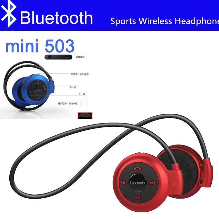 Mini 503 Bluetooth Headphone Handsfree MP3 Player Wireless Stereo Sport Headset Support TF Card FM Headband Headphone
