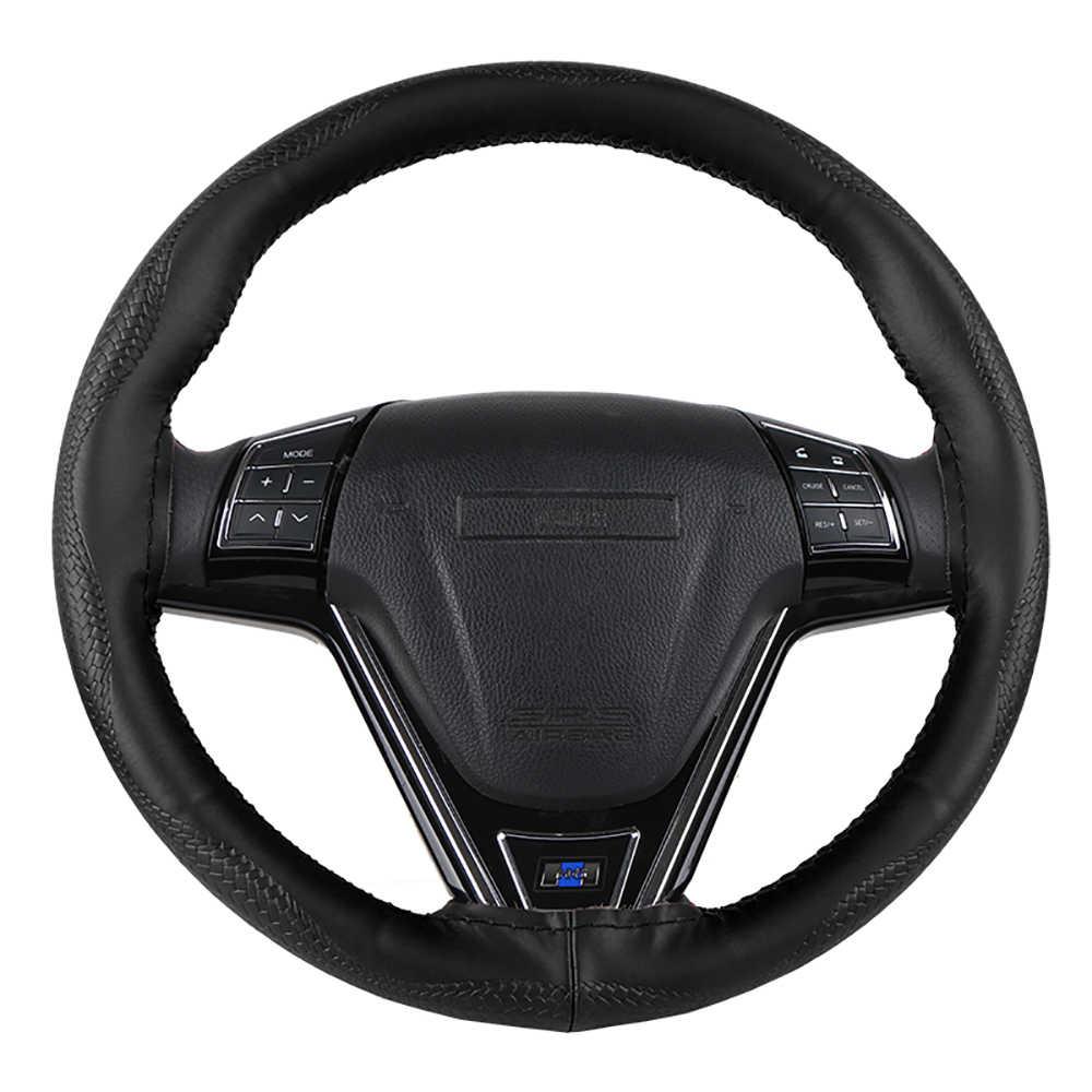Universale del cuoio genuino copertura del volante dell'automobile della pelle di serpente del modello della pelle bovina volante dell'involucro della treccia con ago e filo