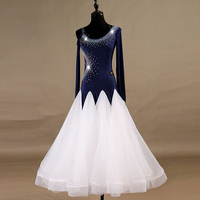 Ballroom Dress Women Waltz Tango Competition Dresses Rhinestone Standard Dance Clothes Backless Salsa Performing Wear DL3118