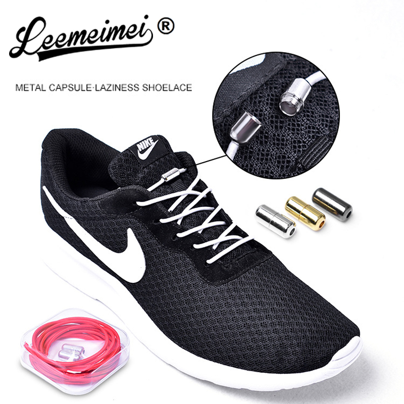 No Tie Elastic lock Shoe laces for adults kids sneakers canvas sports triathlon