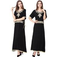 Islamic Clothing For Women Muslim Long Sleeve Dress Black Abaya Dubai Moroccan Kaftan Caftan Islamic Abaya
