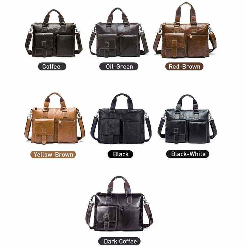 MVA جلد حقيبة لابتوب للرجال حقيبة جلد طبيعي حقائب حقيبة رجالية حقائب اليد حقائب مكتب حقيبة ساع للرجال حقائب