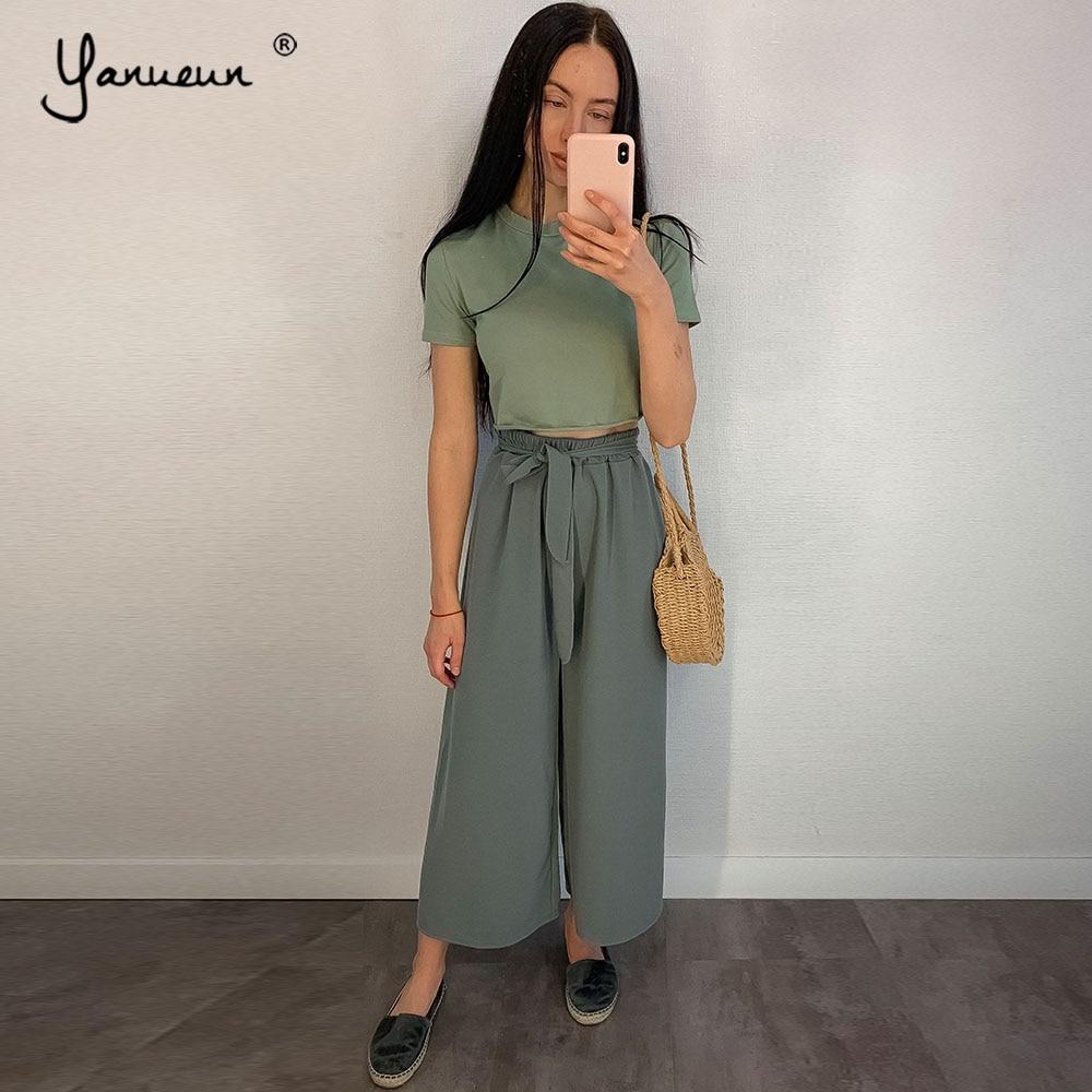 Yanueun Basic Soft Solid O-Neck Short T-shirts Women Lady Casual Top Short Sleeve Loose 2019 New Cotton Top Tees