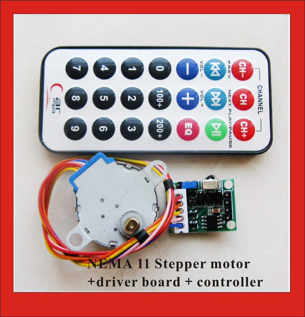 Buy 4 Phase 5 Wire Nema 11 Stepper Motor Driver Board Remote Controller Rc