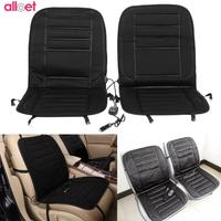 2pcs Car Heated Seat Cushion Covers Automobiles Front Seat Covers Pad Electric Heated Quickly Electric Heating