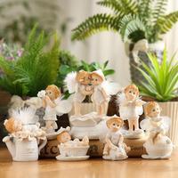 Смола Вырезка милый ангел для маленьких девочек FAY для Свадебная вечеринка душа ребенка день рождения фестиваль Сувениры подарки пользу Но...