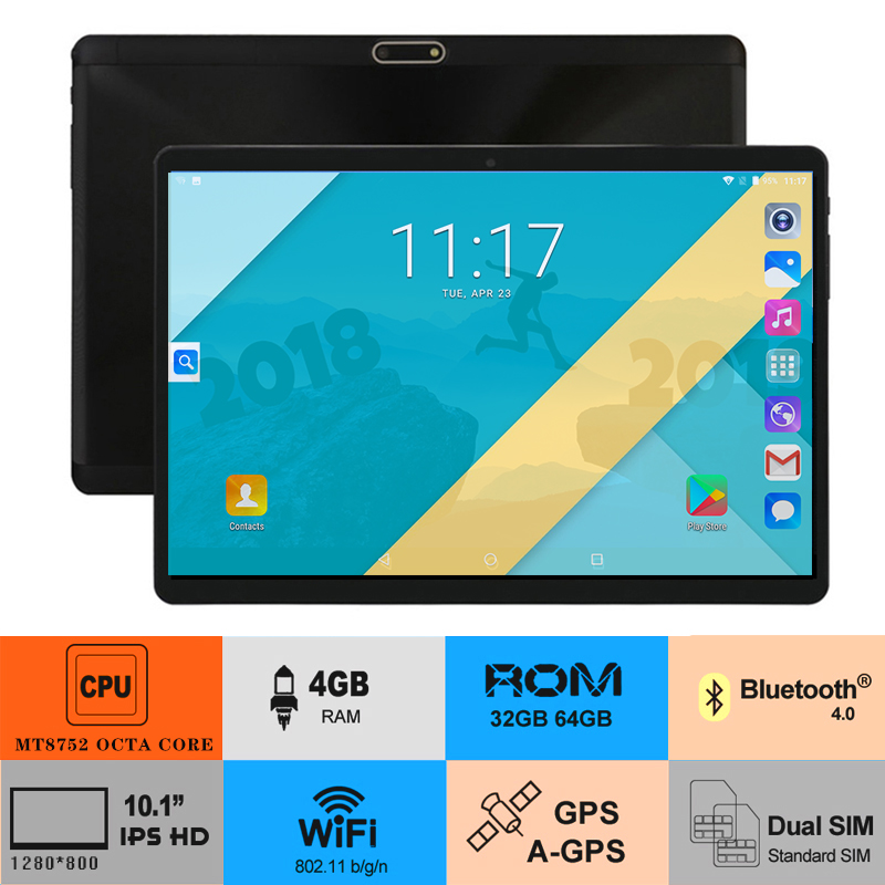 Super Tempered Glass 10 inch Tablet PC Android 8 0 4GB RAM 64GB ROM 5 0MP