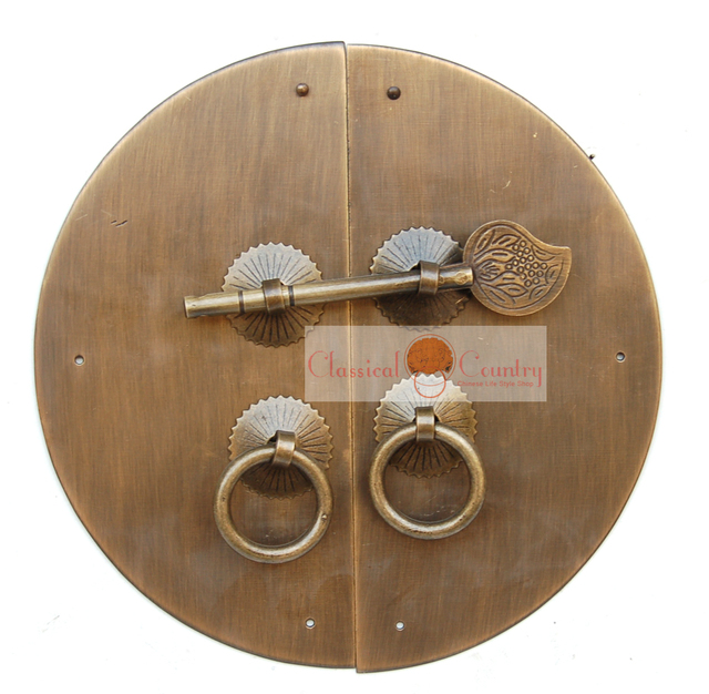 14cm Antique Matt Black Cabinet Door Knocker Latch Br Hardware Face Plate Pull Handle Ring Locking Pin