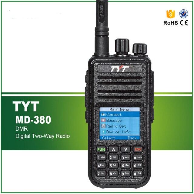 最新dmrトランシーバtyt MD 380 uhfラジオ1000 ch 5ワットrfパワープログラミングケーブルとソフトウェア