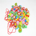 Montessori Kids Toy Baby Colorful Wooden Lacing Beads Stings Learning Educational Preschool Training Brinquedos Juguets