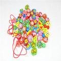 Niños Montessori Juguete Del Bebé Colorido Cordón de Madera Cuentas de Picaduras de Aprendizaje Preescolar Educación Formación Brinquedos Juguets