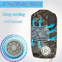 Chaleco de traje de refrigeración de ventilador de fábrica ropa de protección de alta temperatura Chaleco de enfriamiento de calor aire acondicionado de manga corta overal