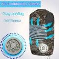 Fábrica de ventilador de enfriamiento del chaleco de traje de alta temperatura ropa protectora calor chaleco de refrigeración de aire acondicionado de manga corta general