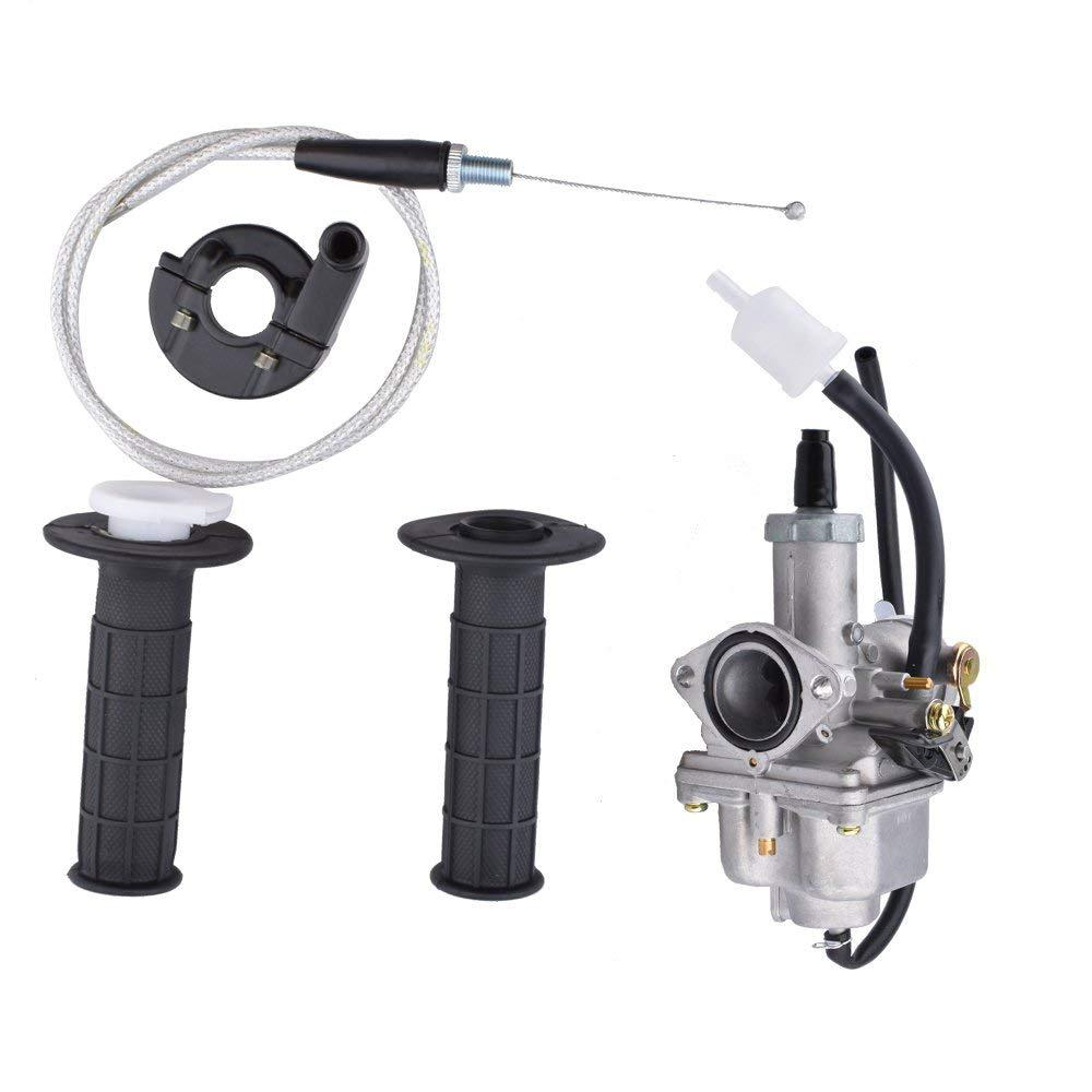 LumiParty PZ26 carburateur manette des gaz poignées carburateur accélérateur avec câble pour Honda CB125S (80-82) XR100R CRF100F r30