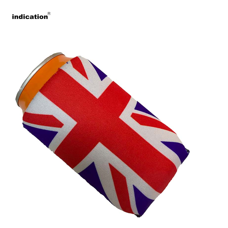 50pcs/lot Promotional Custom Printed Stubby Holders Can Coolers for For Food Wine Beer Cans Cooler Bag Birthday Wedding Gift