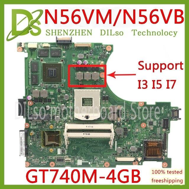 Kefu N56VM материнская плата для ASUS N56VM N56VB N56VvV N56VJ N56VZ Материнская плата ноутбука N56VM GT740 4G поддержка I7 Тесты материнская плата