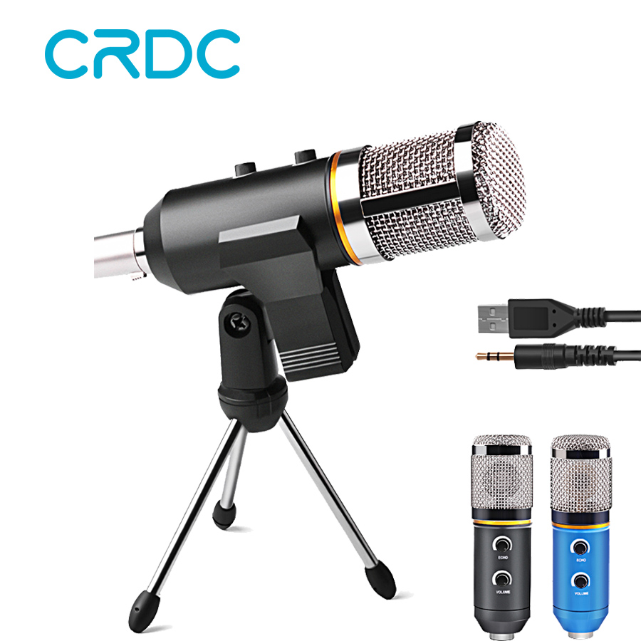 buy crdc professional usb condenser microphone for pc computer video recording. Black Bedroom Furniture Sets. Home Design Ideas