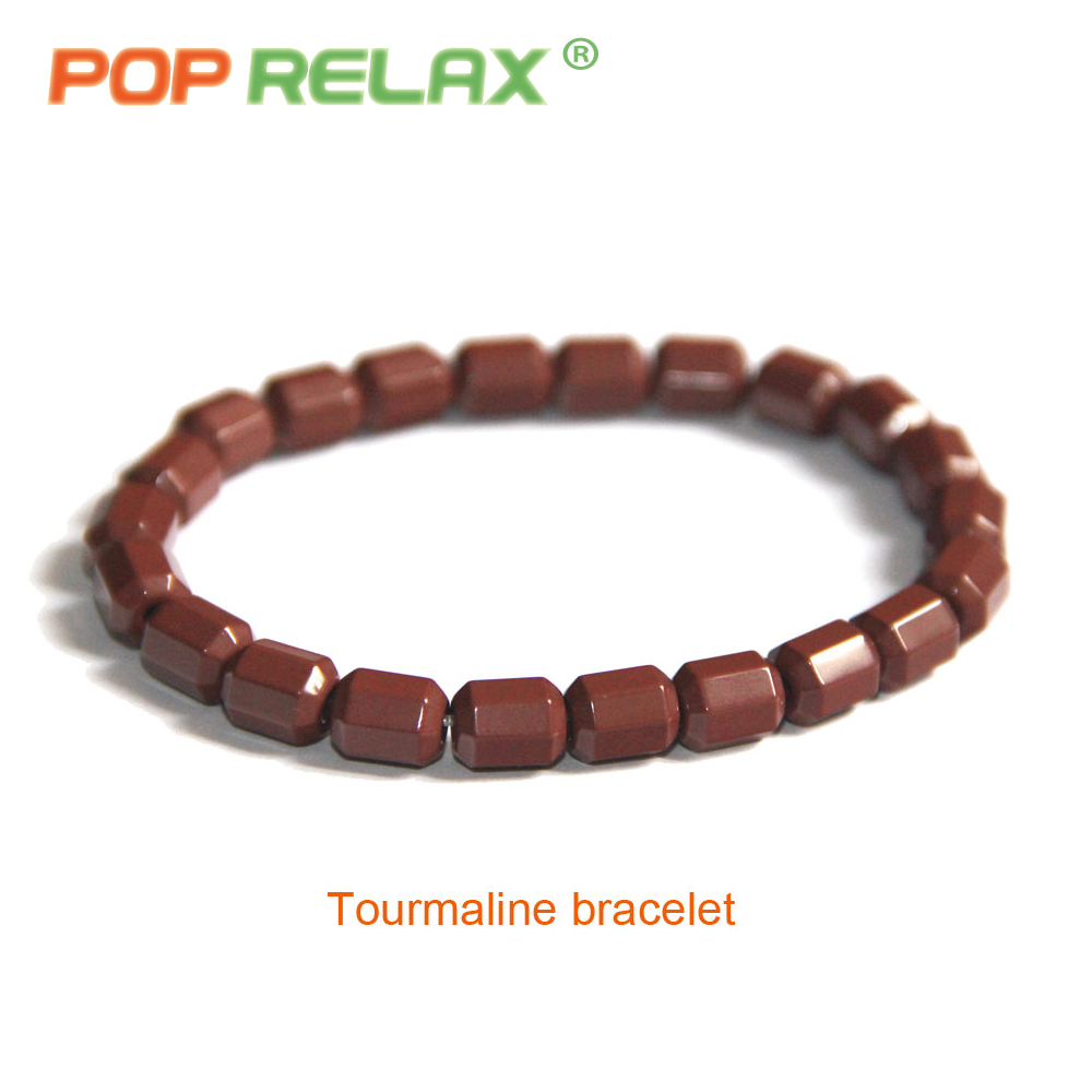 POP RELAX health care tourmaline ball bracelet Korea germanium stone negative ion balance energy fashion bracelets for women men pop relax negative ion magnetic therapy tourmaline mat pr c06a 55x120cm ce page 7
