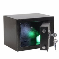 LESHP Durable safe box Key Operated Security Box Money Cash Jewelry   storage   Safe Box For   Home     Office   security Black safety box