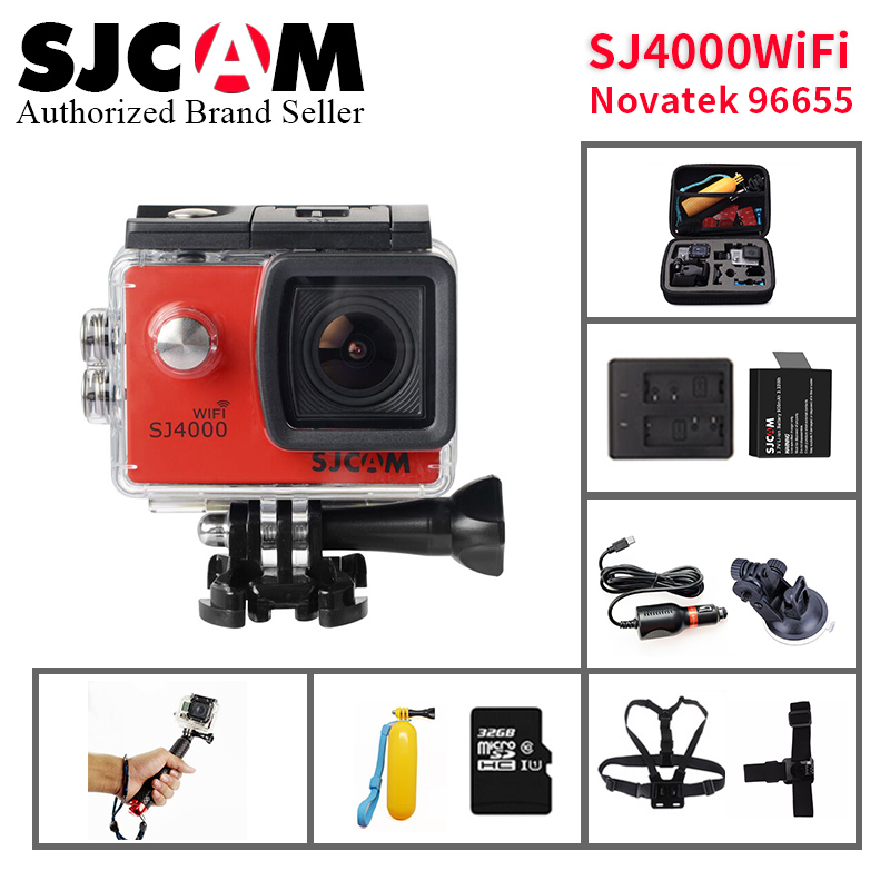 Original SJCAM SJ4000 Series 1080P HD 2.0 SJ4000 WIFI Action Camera Waterproof Sports DV Car Registrar go extreme pro yi sj cam kuidfar women shoes woman flats genuine leather round toe slip on loafers ladies flat shoes skid proof spring autumn footwear