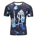 Men's Fashion 3D  Creative T-Shirt, Lightninglizard/water droplets/skeleton/explosion 3d printed short sleeve T Shirt  M-4XL