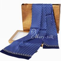 Gifts__Fashion Brand Mens 100% Silk Long Scarf/Cravat Double Layer __For Spring Autumn Winter