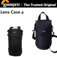 Lowepro LC4 padded Lens Case 4 tahan air Lens barrel Camera bag pouch untuk Sigma Nikon Canon EF 70-200mm f / 2.8 (11 cm x 26 cm)