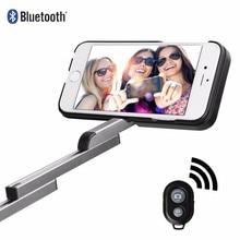Роскошные 3 в 1 Bluetooth Селфи Телефон Случае Выдвижной Селфи Палки для iPhone6/6 s iphone7/Плюс с держатель телефона чехол сумка Стенд