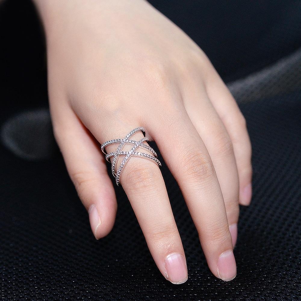 DJMACC High Quality Three Gold Color Ring Cross Mesh Luxury Full ...