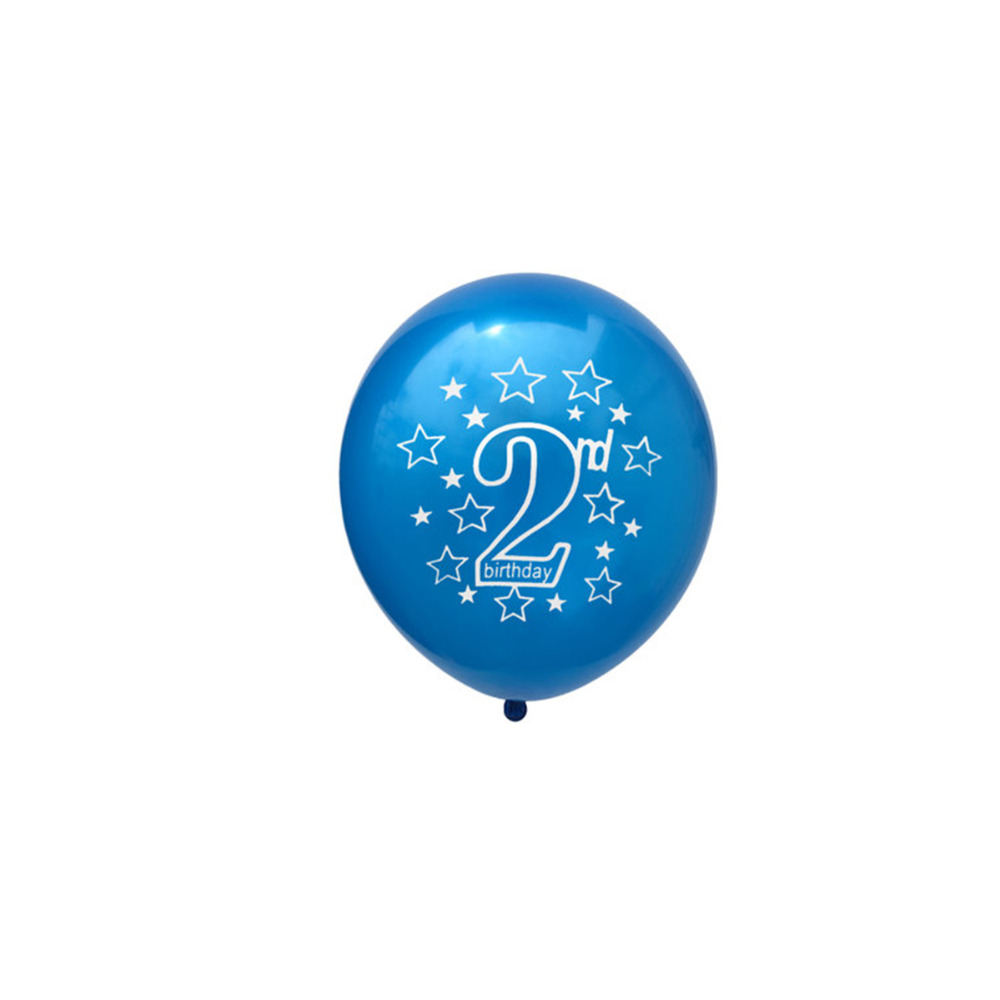 LAPHIL 2nd Birthday Balloons Blue Pink Latex Boy Girl I AM TWO Happy Party Decorations Kids Favors Supplie In DIY