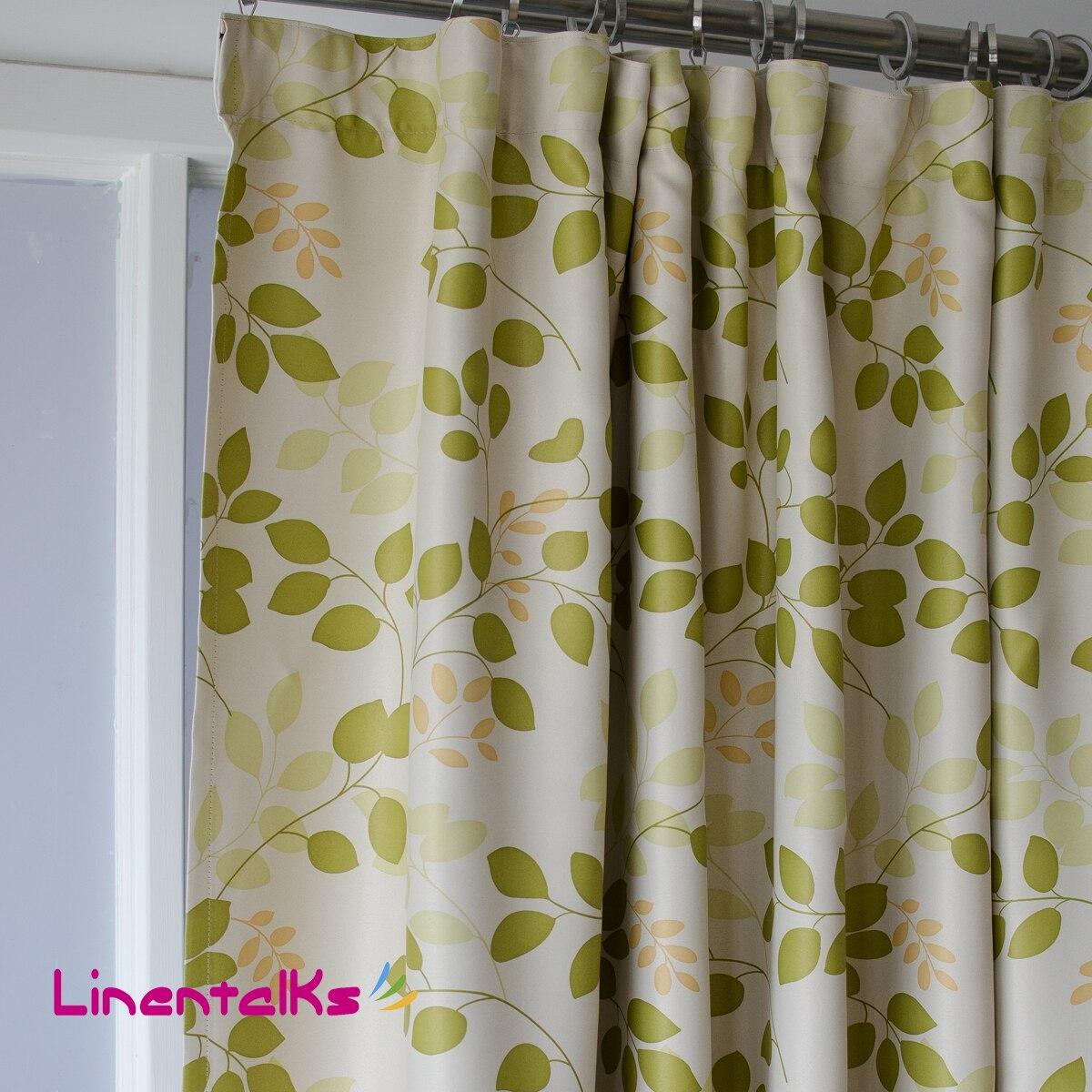 blackout green leave living room curtain finished curtain. Black Bedroom Furniture Sets. Home Design Ideas